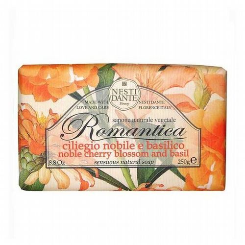 Nesti Dante Soap - Romantica - Noble Cherry Blossom and Basil Soap